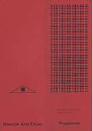The programme cover for The Eye and Ear Concert