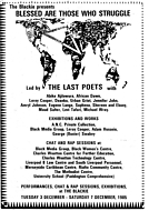 Front of the Leaflet for The Last Poets