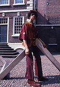 Stve Thompson Posing in the Bluecoat Chambers Courtyard
