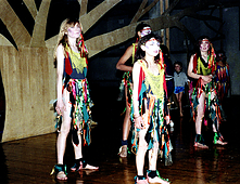 Youngsters performing the tree dance