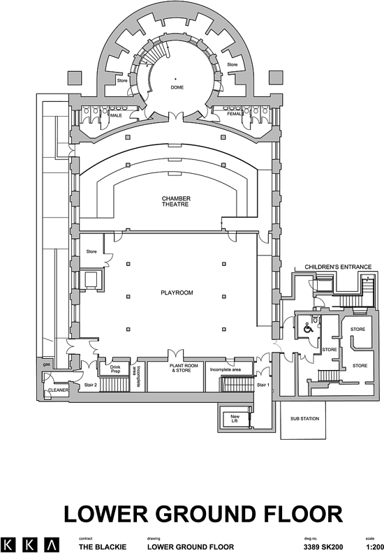 Floorplan of lower ground floor with Studio workspace