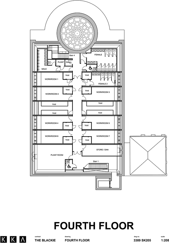 Floor Plan of Roof space studios
