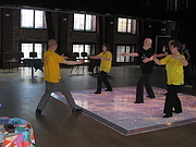Charles Tsang and his Tai Chi group put on a display in support of the Dance Marathon